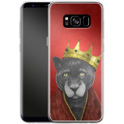 Samsung Galaxy S8 Silikon Handyhuelle - The King Panther von Barruf