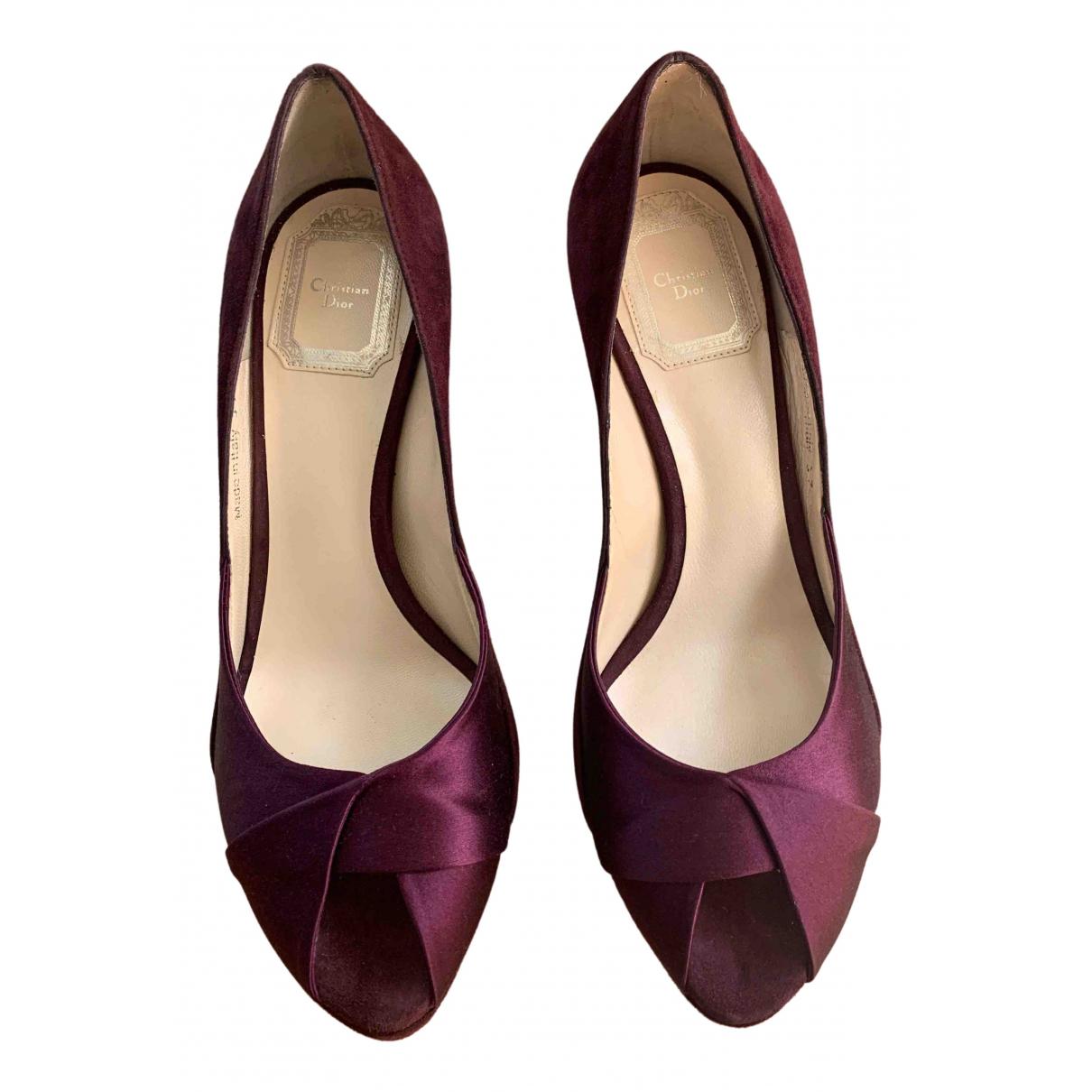 Dior \N Purple Velvet Sandals for Women 37 EU