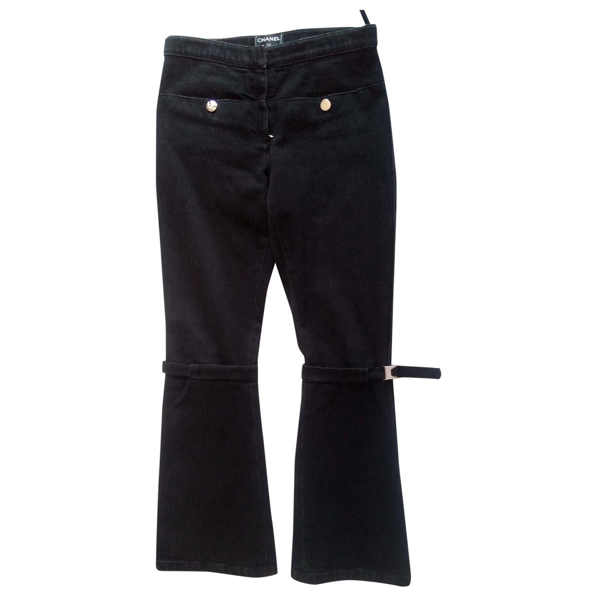 Chanel \N Black Cotton Jeans for Women 36 FR