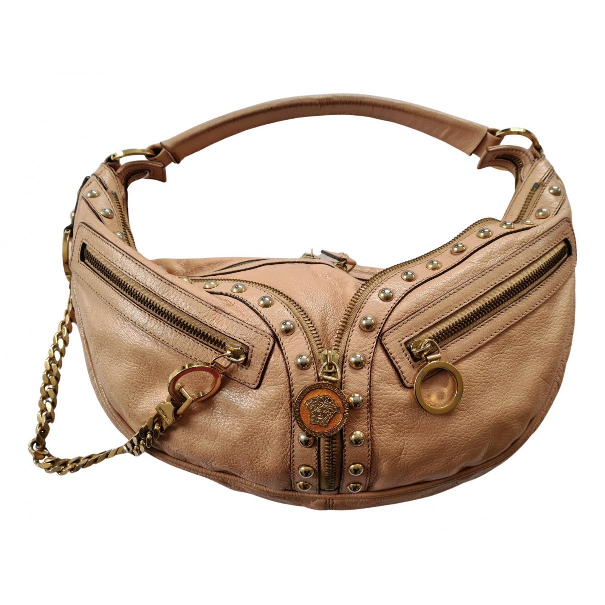 Versace \N Handtasche in  Beige Leder