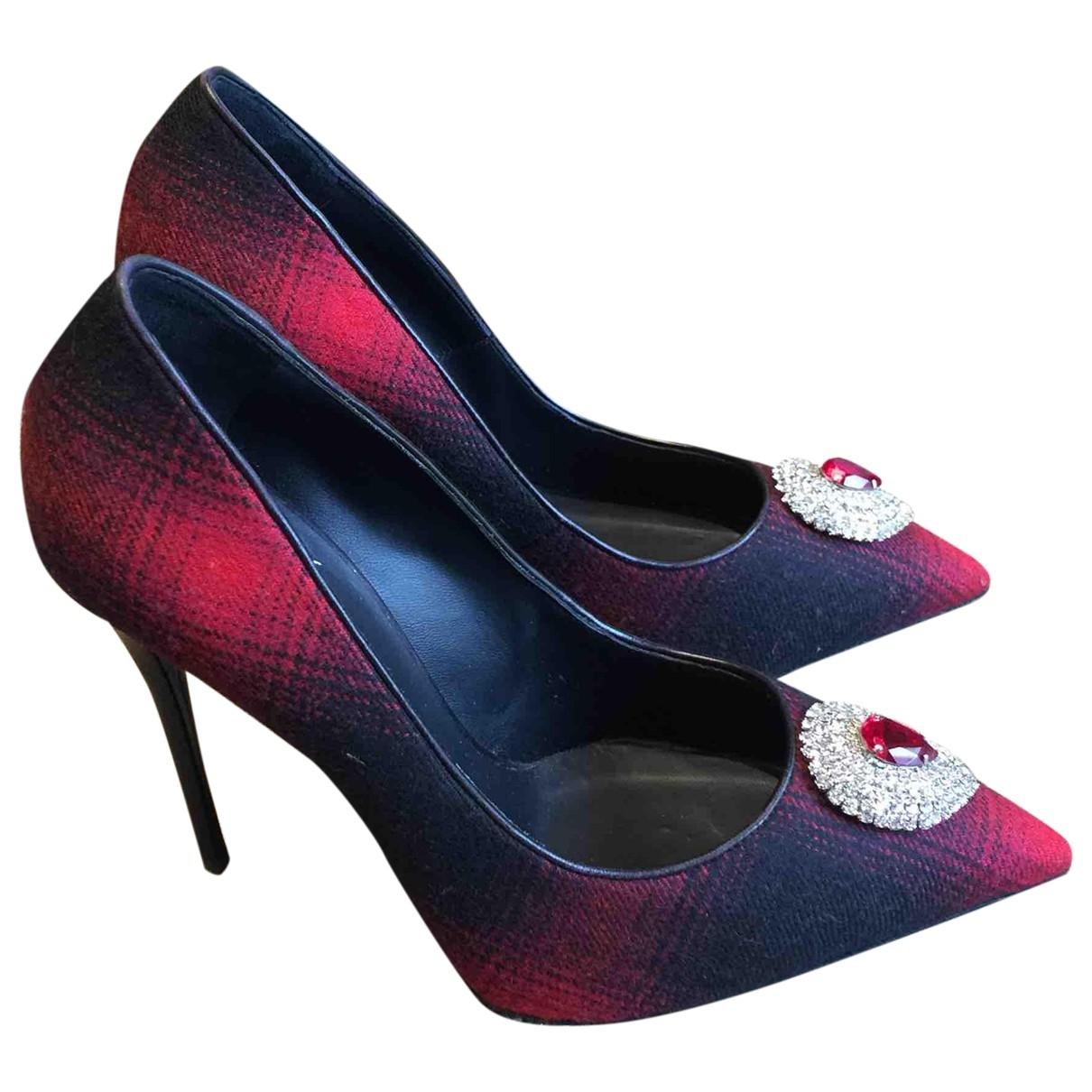 Giuseppe Zanotti - Escarpins   pour femme en toile - rouge