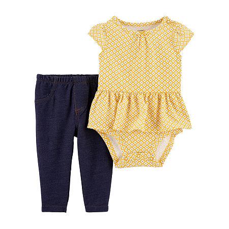 Carter's Baby Girls 2-pc. Bodysuit Set, 3 Months , Yellow