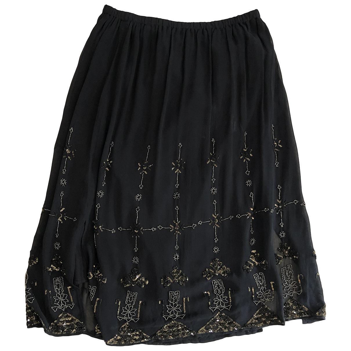 Mes Demoiselles ... - Jupe   pour femme en soie - noir