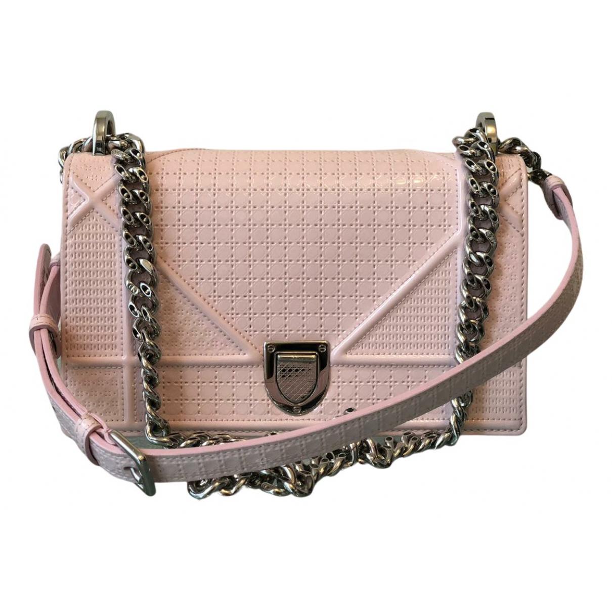 Dior - Sac a main Diorama pour femme en cuir verni - rose