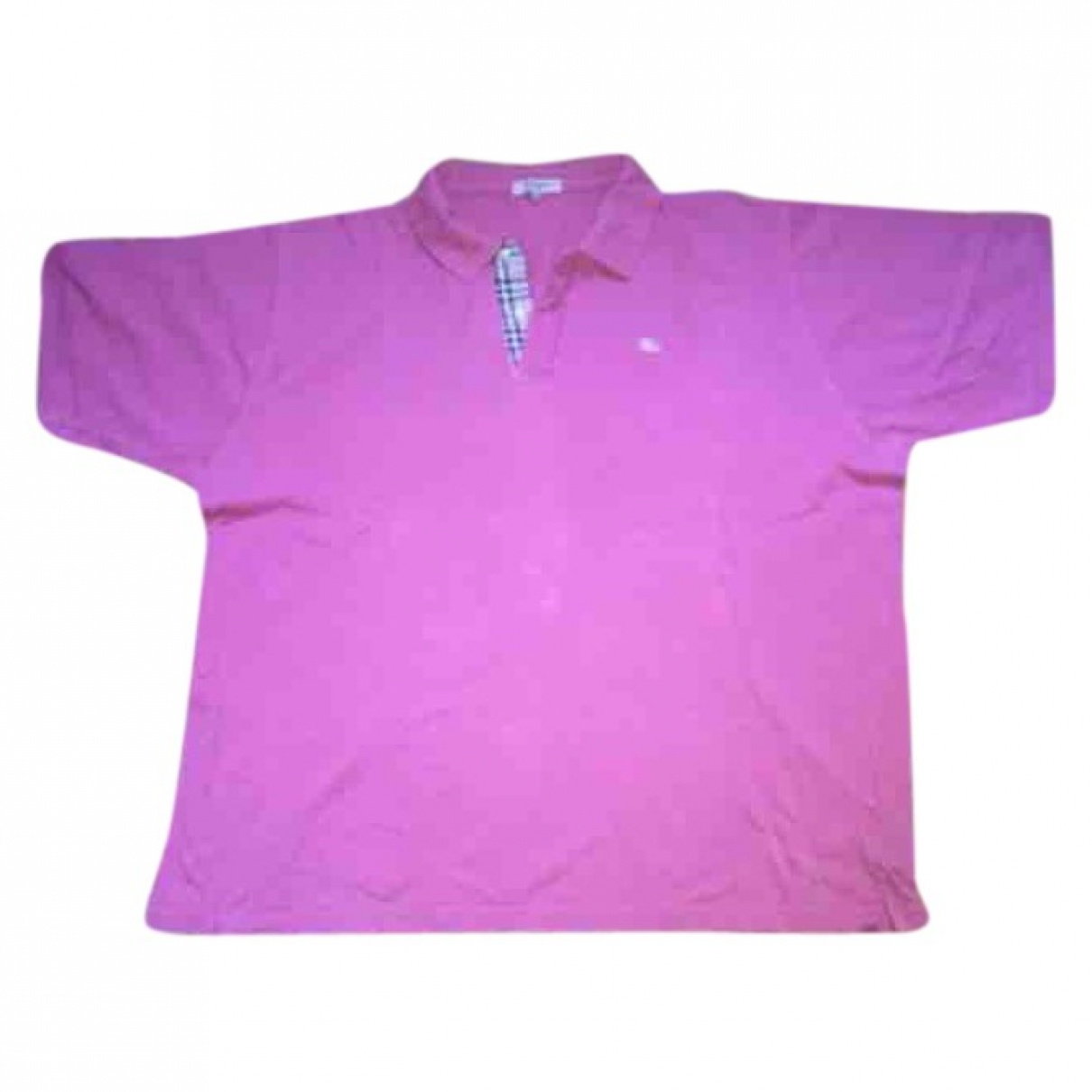 Burberry \N Pink Cotton Polo shirts for Men XXL International