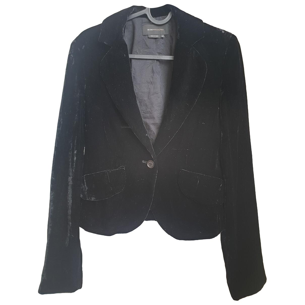 Bcbg Max Azria - Veste   pour femme en velours - noir