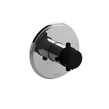 Momenti MMRD23+CBK-EX 2-Way Thermostatic/Pressure Balance Coaxial Complete Valve with Cross Handles  in Chrome with Cross Handles  in