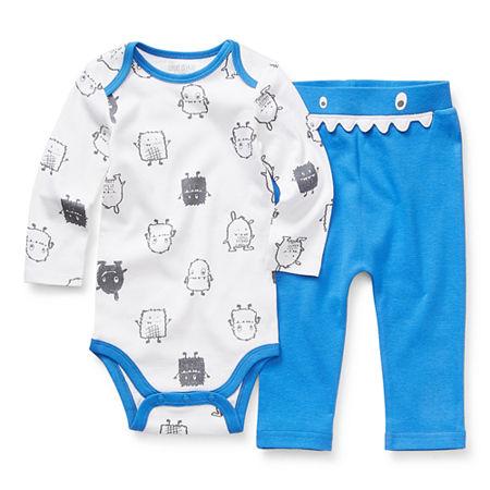 Okie Dokie Baby Boys 2-pc. Bodysuit Set, 9 Months , Blue