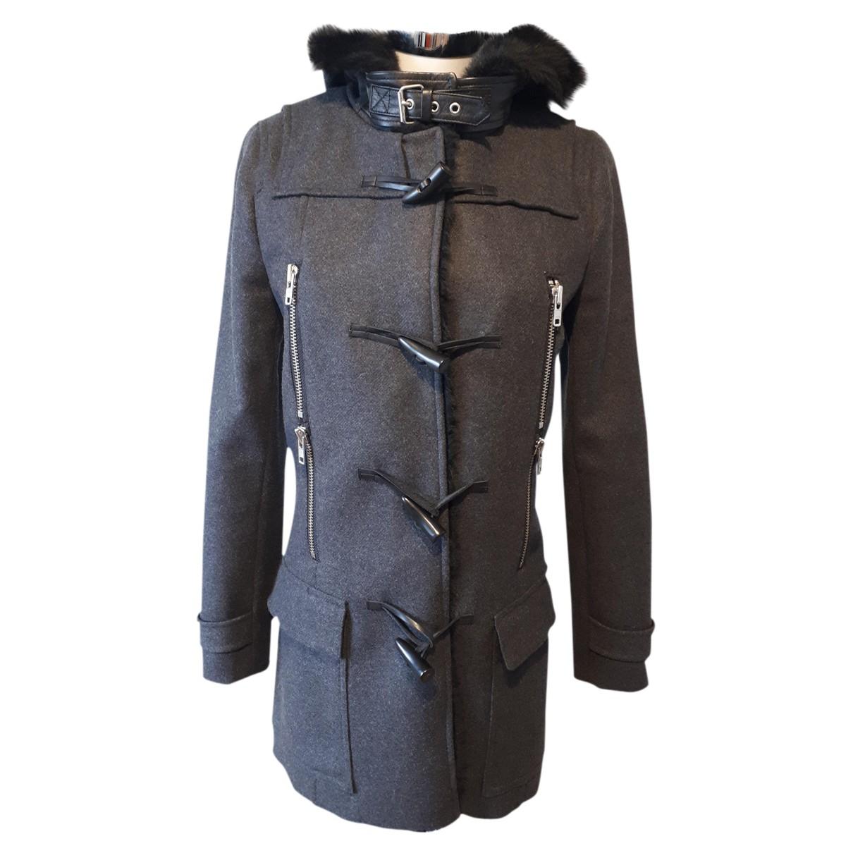 The Kooples - Manteau Fall Winter 2019 pour femme en laine - gris