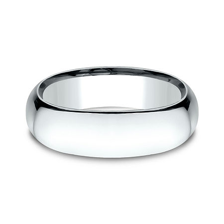 Mens 14K White Gold 7MM Light Comfort-Fit Wedding Band, 13 , No Color Family