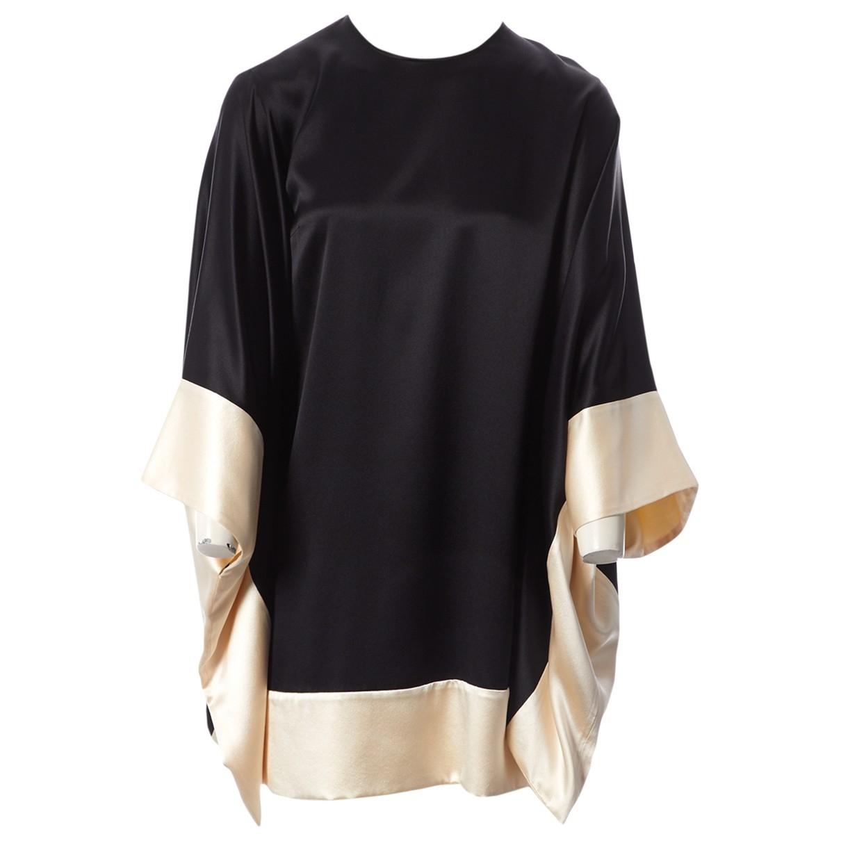 Alexander Mcqueen \N Black Silk dress for Women M International