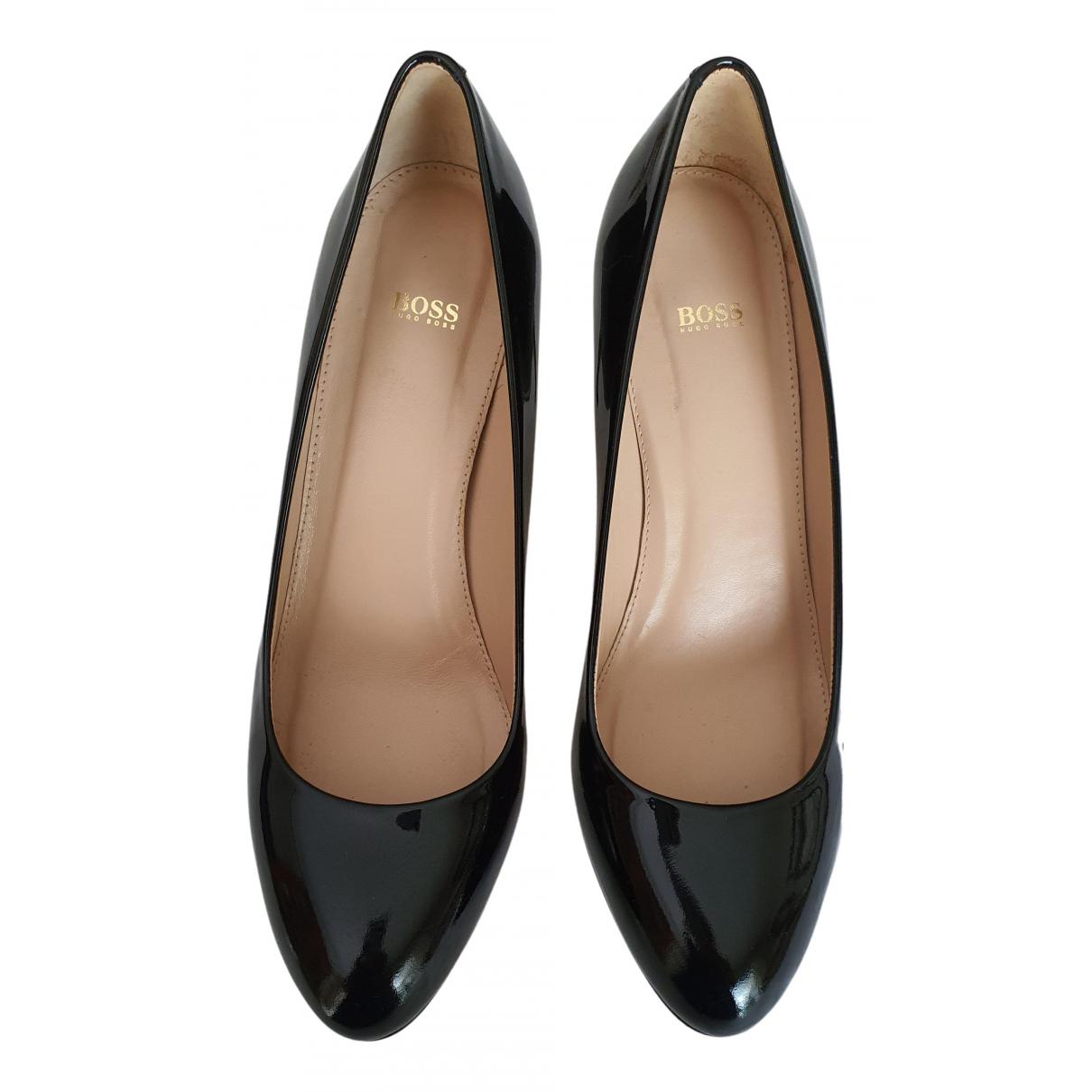 Boss N Black Patent leather Heels for Women 40 EU