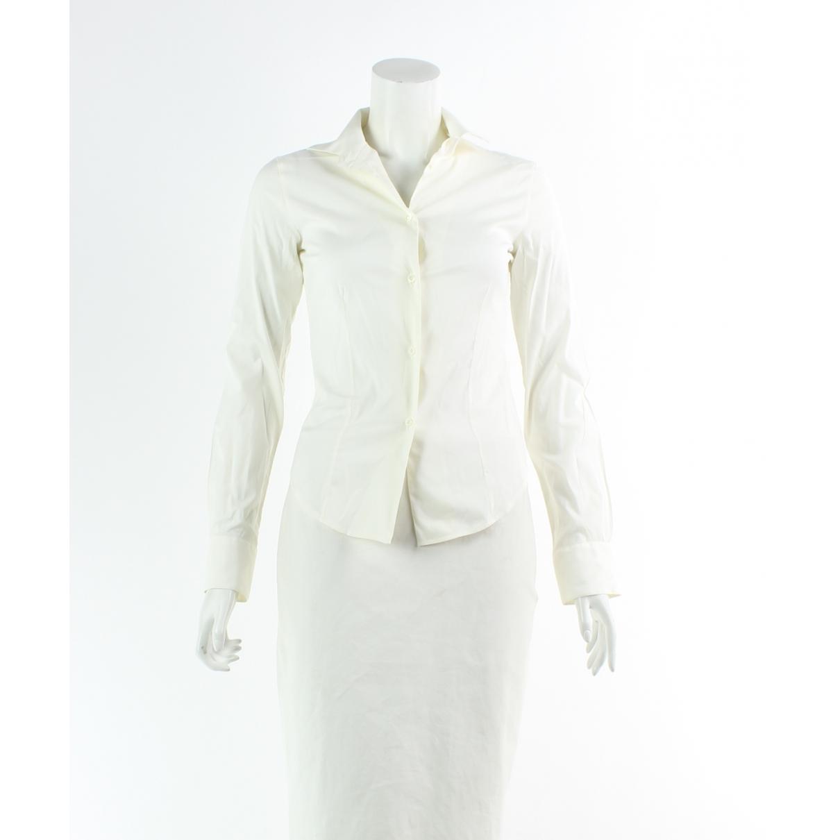 Loro Piana - Top   pour femme en coton - ecru