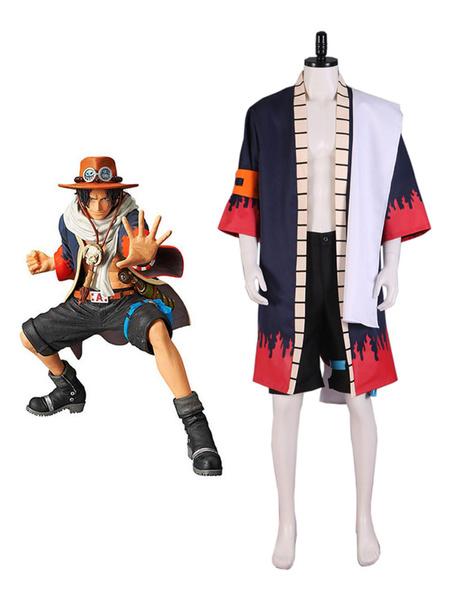 Milanoo One Piece Portgas D Ace Alabasta Cosplay Disfraz Halloween