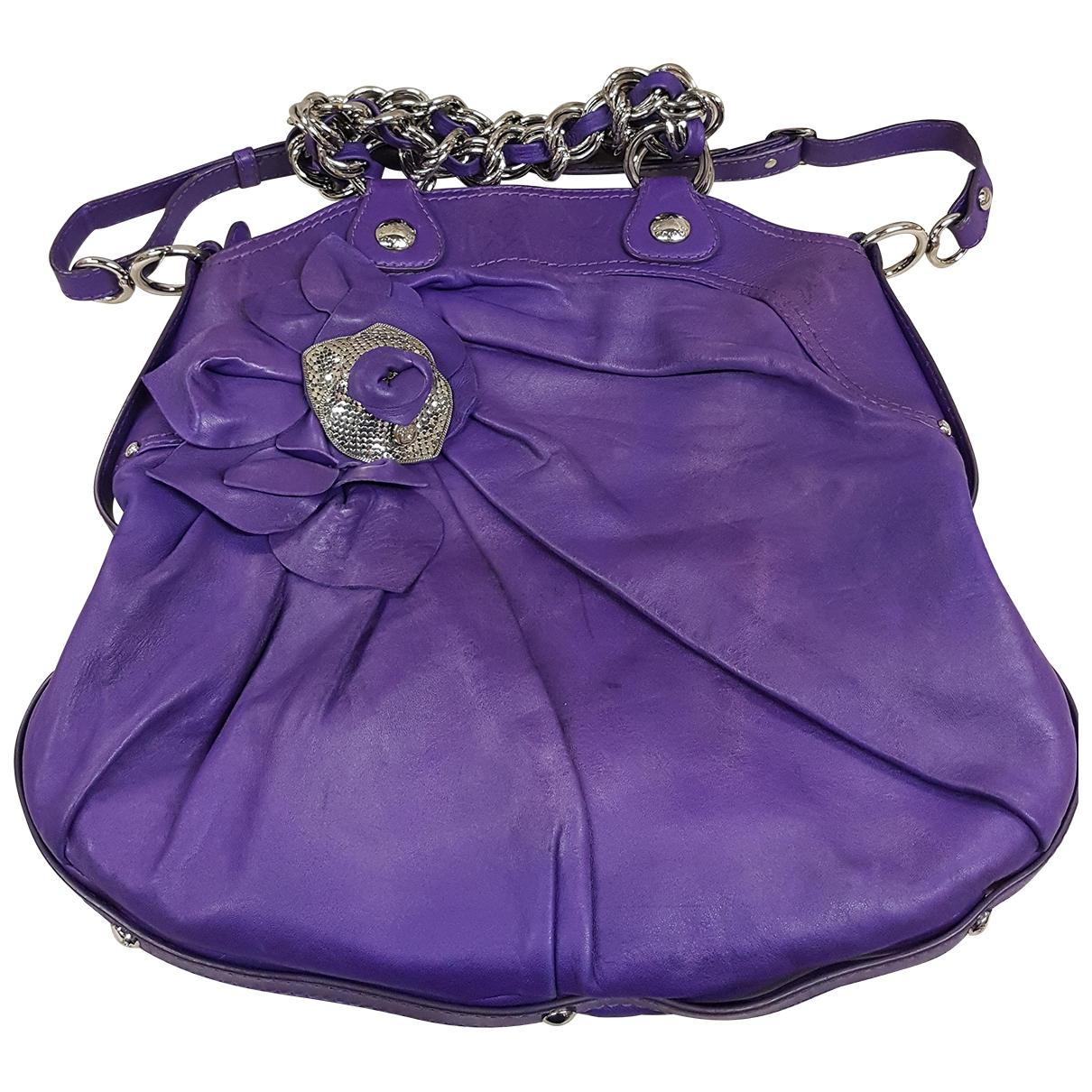 Versace - Sac a main   pour femme en cuir - violet