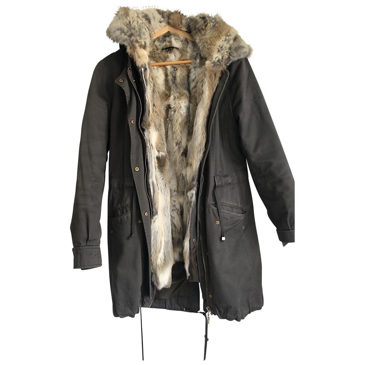 Non Signé / Unsigned \N Khaki Faux fur coat for Women 36 FR