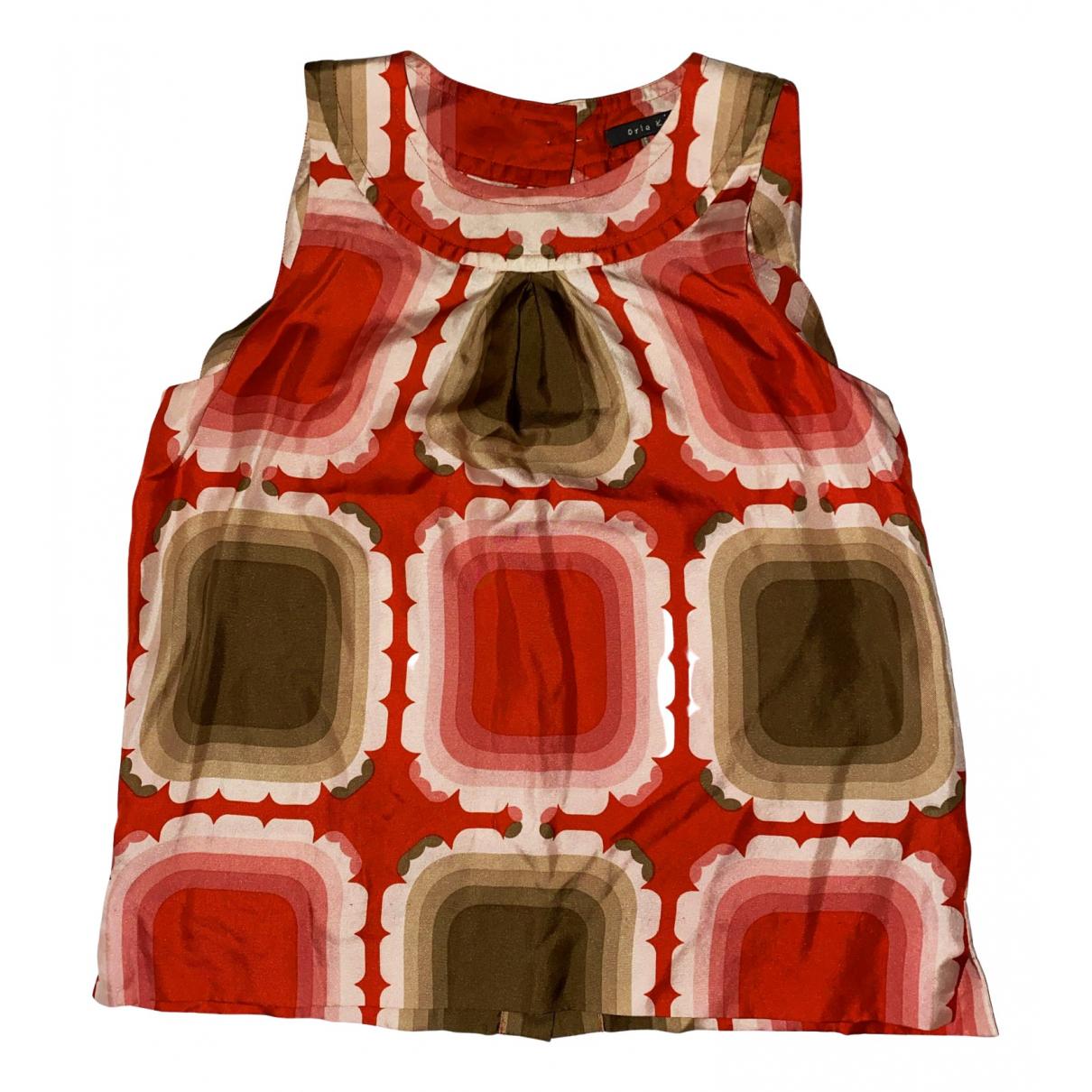 Orla Kiely - Top   pour femme en soie - multicolore