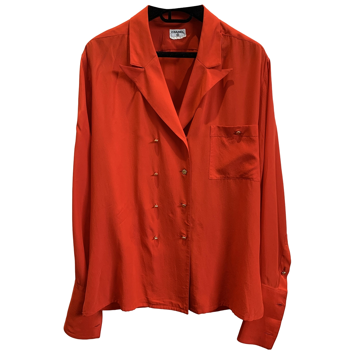 Chanel \N Red Cotton  top for Women 38 FR
