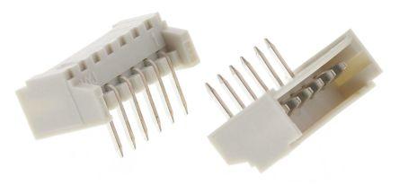 Molex , PicoBlade, 53048, 6 Way, 1 Row, Right Angle PCB Header (5)