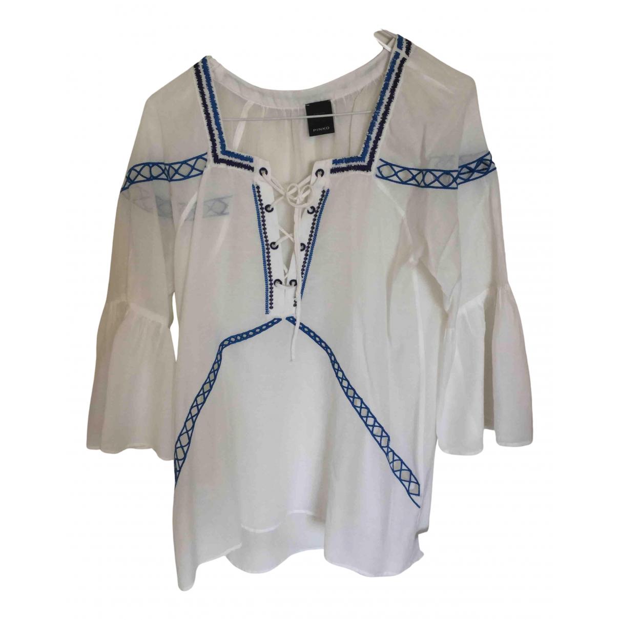 Pinko - Top   pour femme en coton - blanc