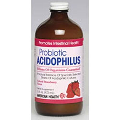 Acidophilus Culture Liquid Strawberry 16 Fl Oz by American Health