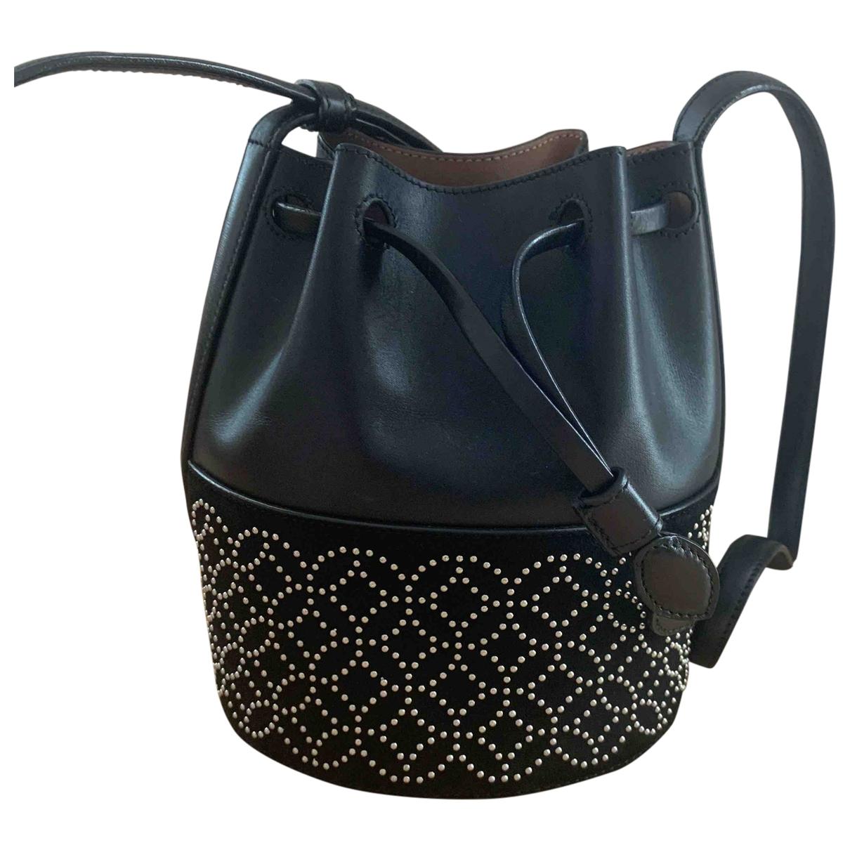 Alaia \N Handtasche in  Schwarz Leder