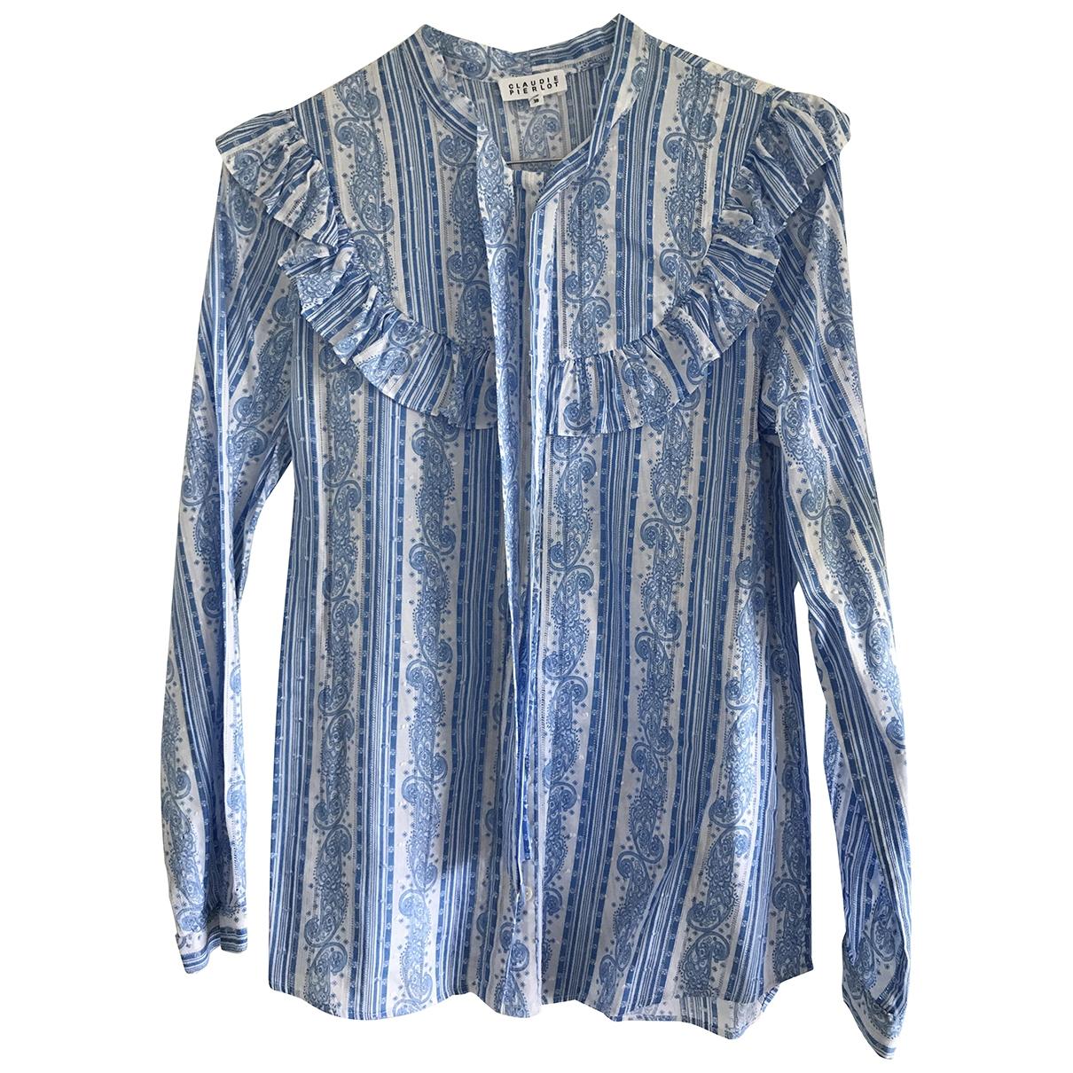 Claudie Pierlot - Top   pour femme en coton - bleu