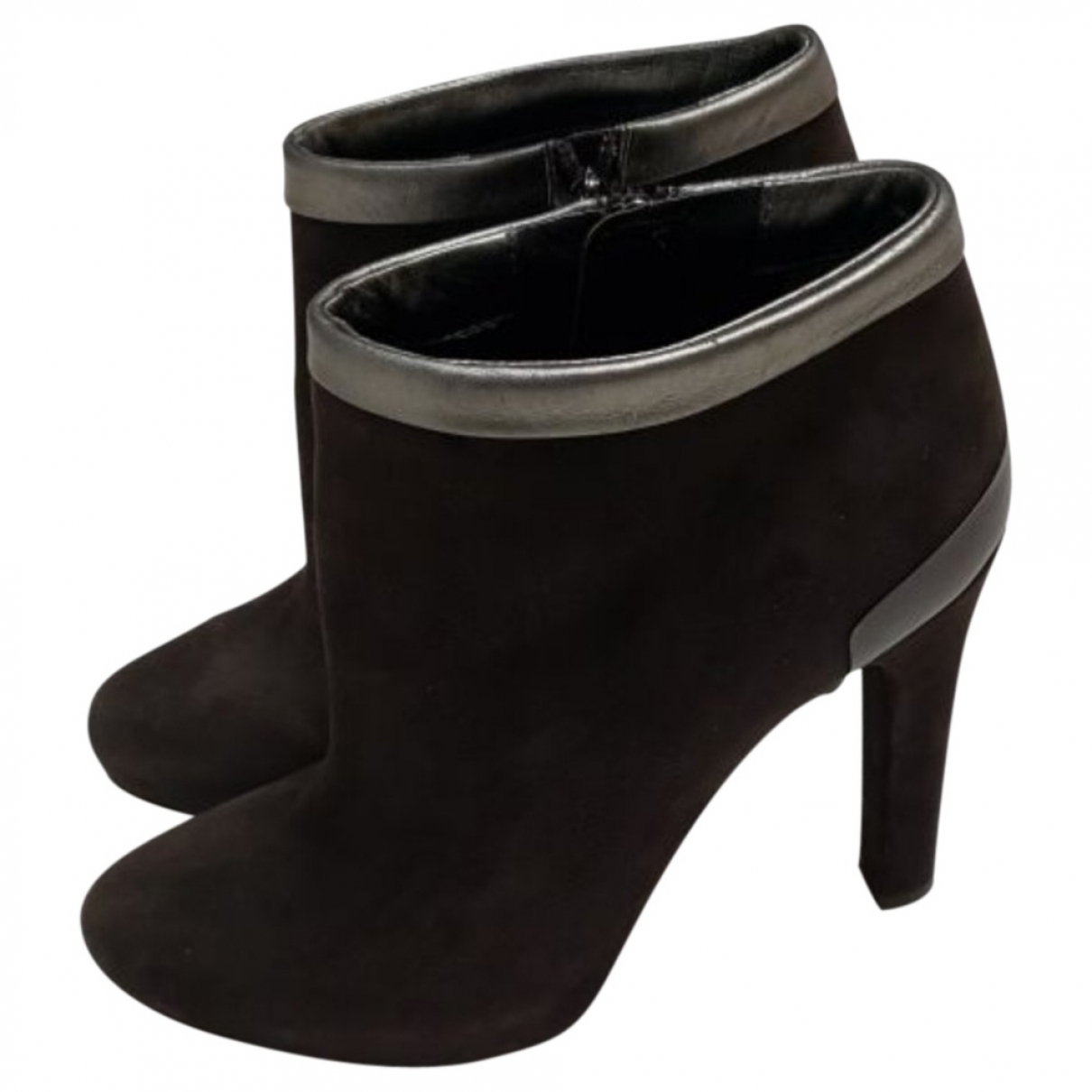 Fendi \N Brown Suede Ankle boots for Women 37 EU