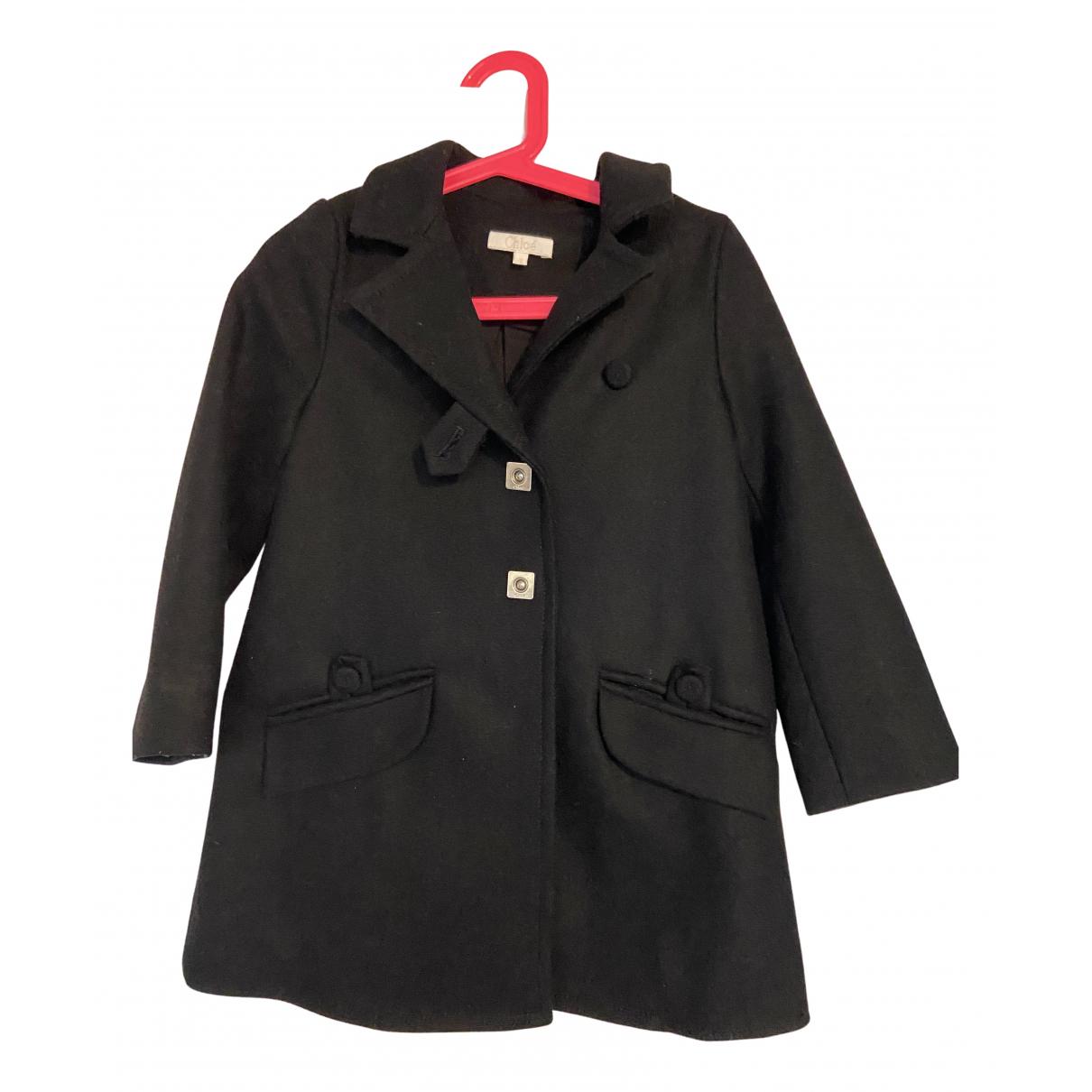 Chloé N Black Wool jacket & coat for Kids 4 years - up to 102cm FR