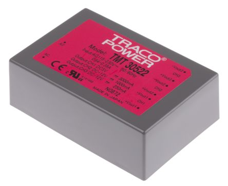 TRACOPOWER , 30W Embedded Switch Mode Power Supply SMPS, 5 V dc, ±12 V dc, Encapsulated, Medical Approved