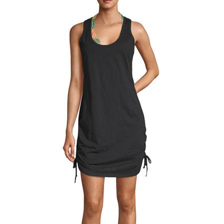City Streets Dress Swimsuit Cover-Up Juniors, Xx-large , Black