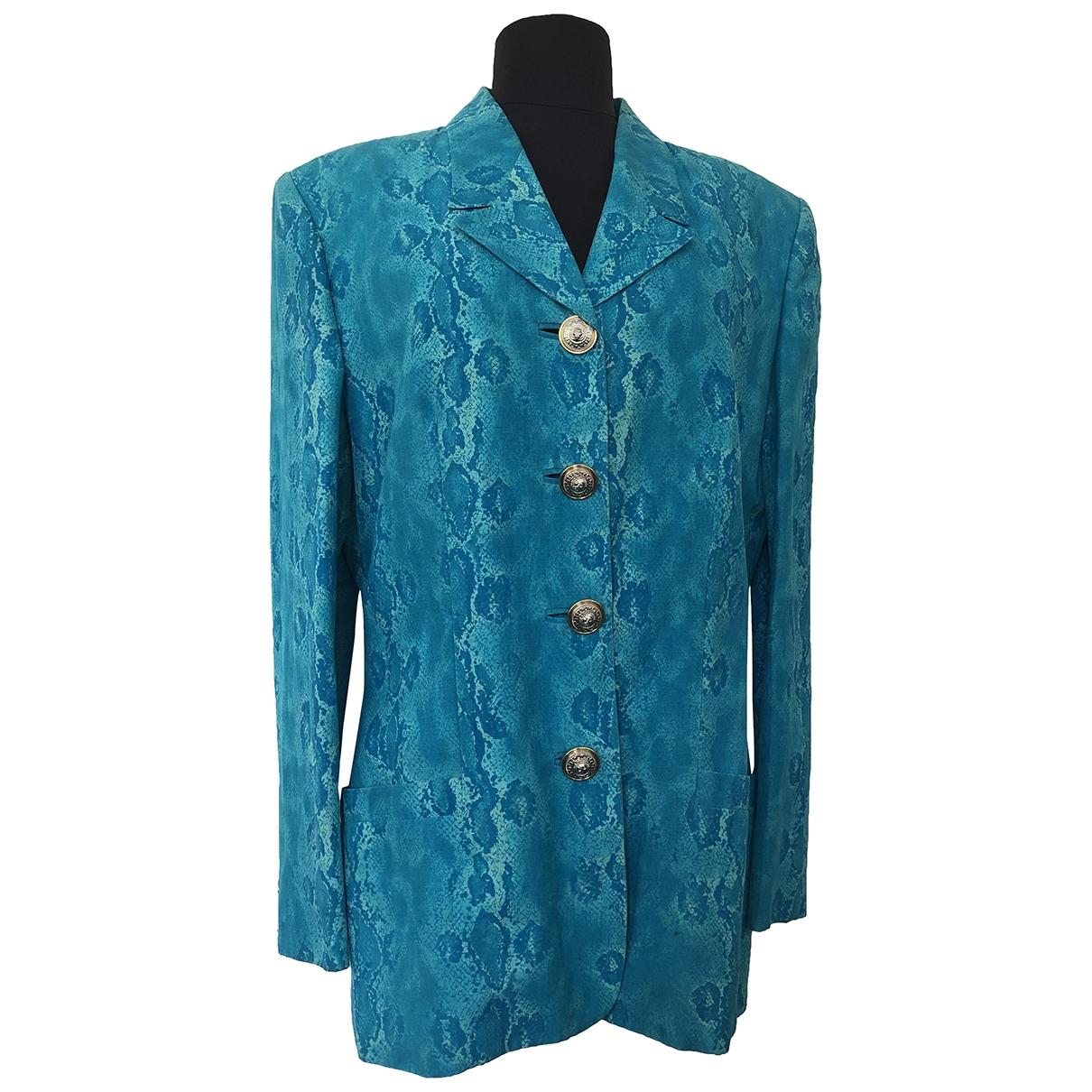 Versus - Veste   pour femme en soie - turquoise