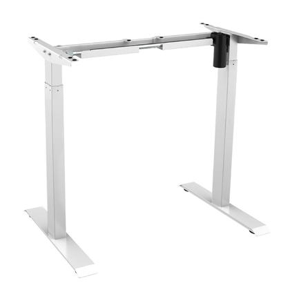 PrimeCables® Electric Sit to Stand Adjustable Desk Riser Frame (Table Top Not Included) - White-Free Shipping