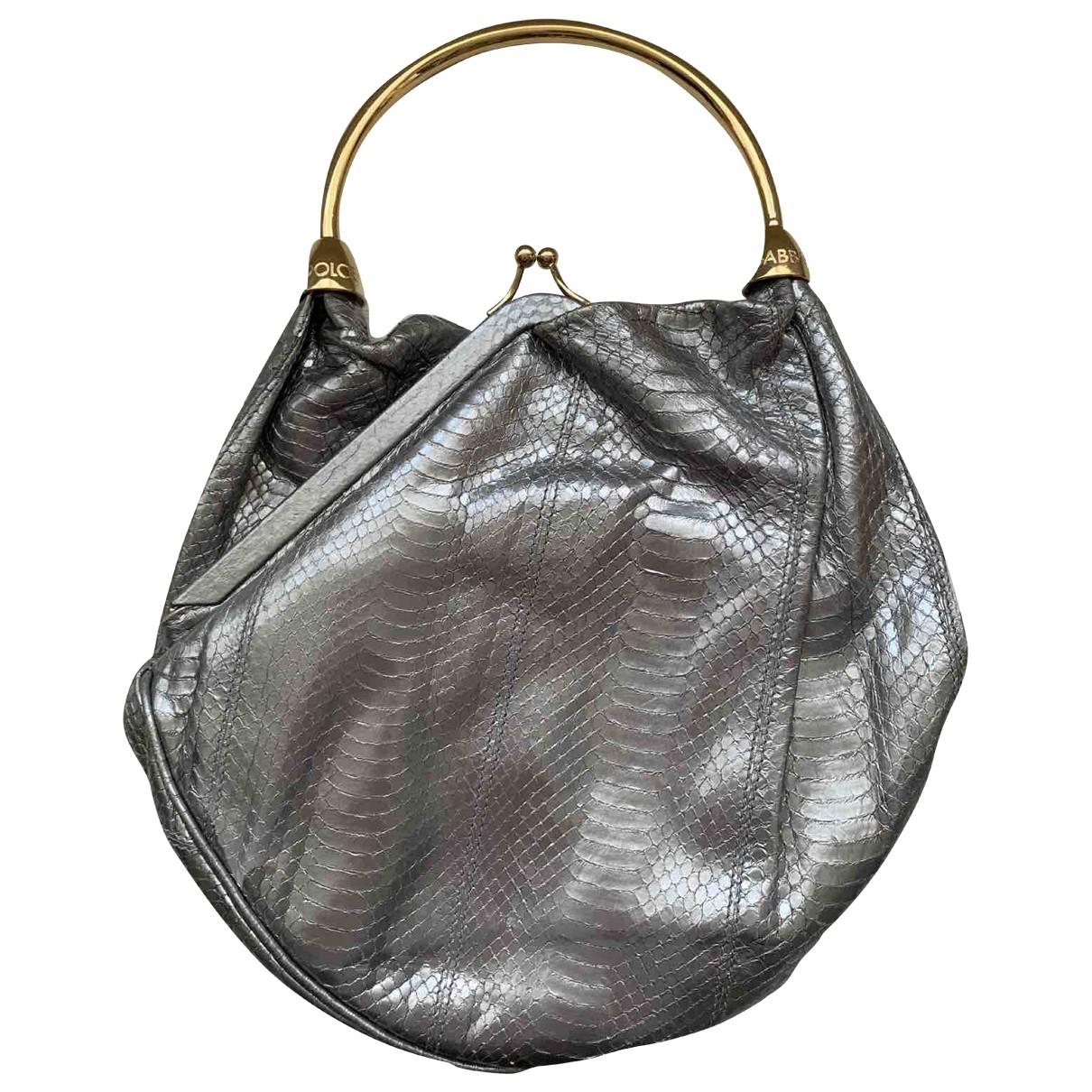 Dolce & Gabbana \N Silver Python handbag for Women \N