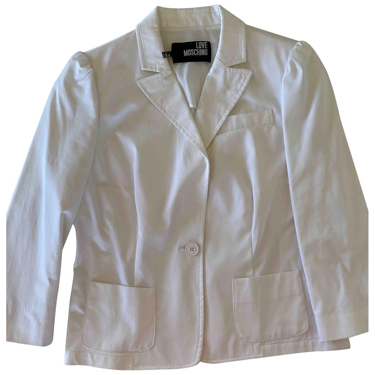 Moschino Love - Veste   pour femme en coton - blanc