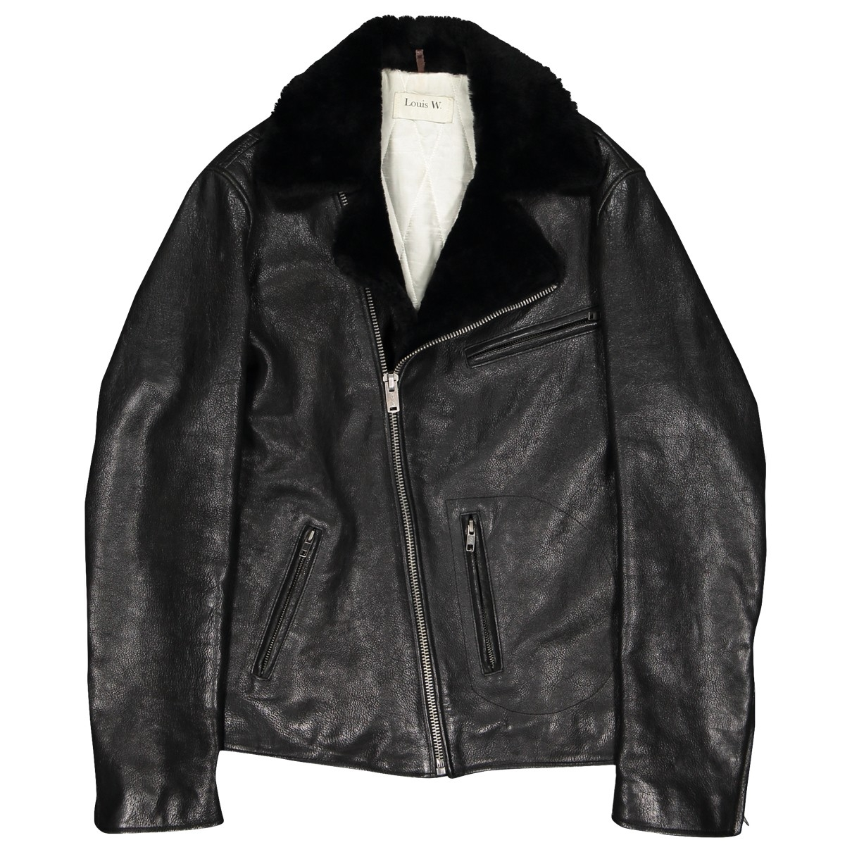 Apc \N Black Leather jacket for Women XXS International