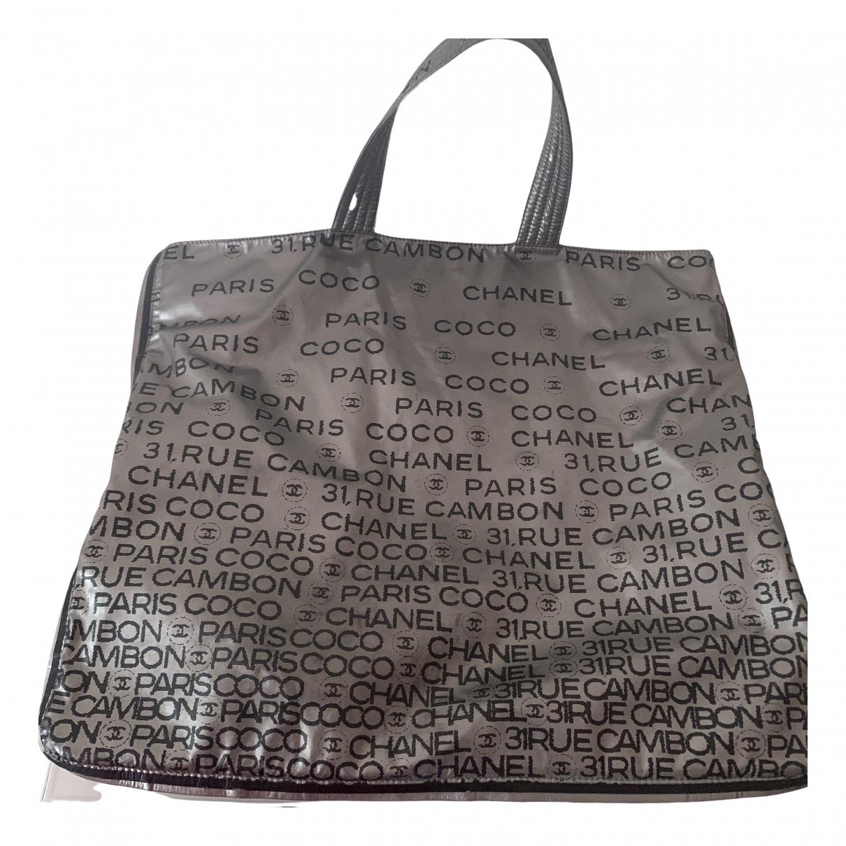Chanel \N Handtasche in  Anthrazit Polyester