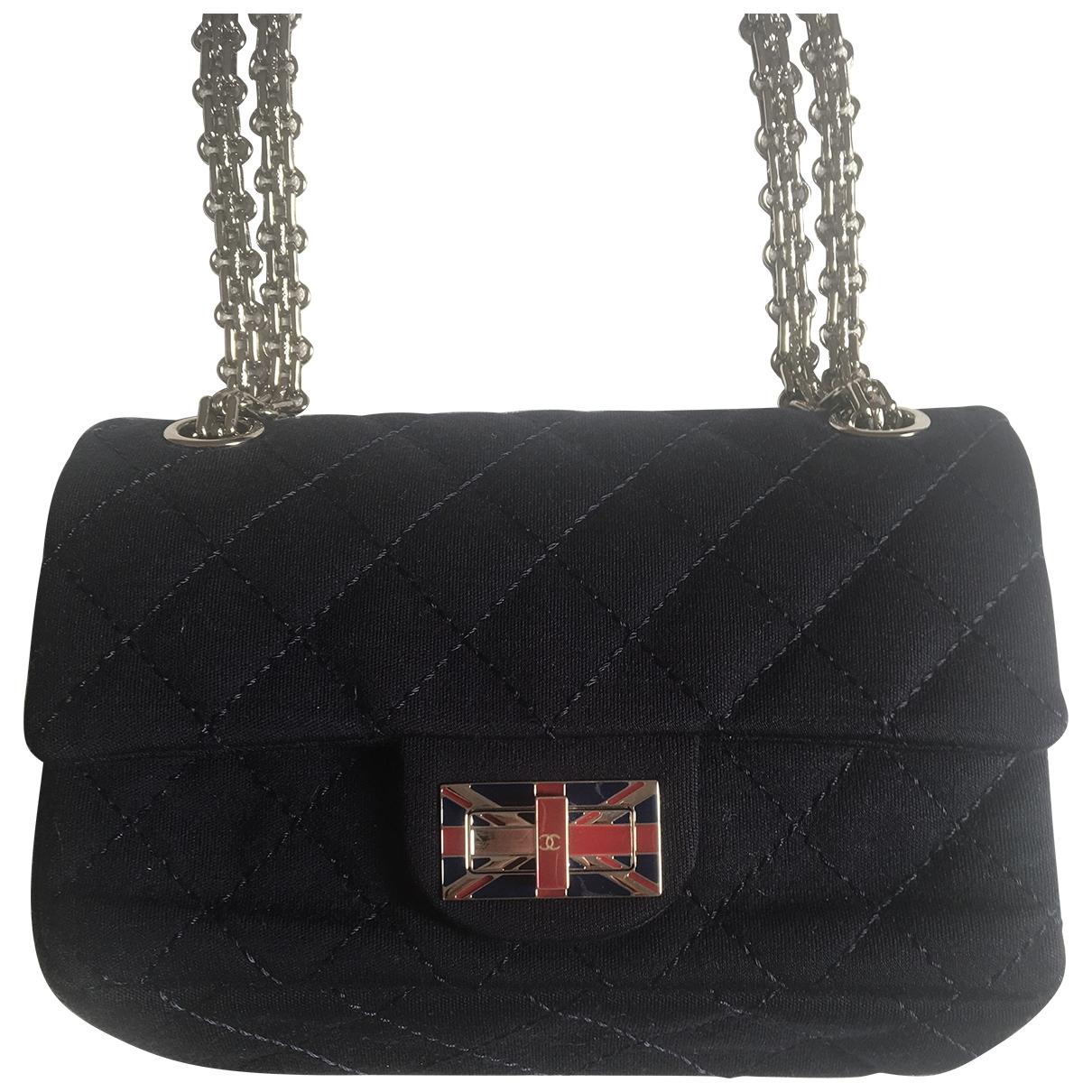 Chanel 2.55 Navy Cloth handbag for Women \N
