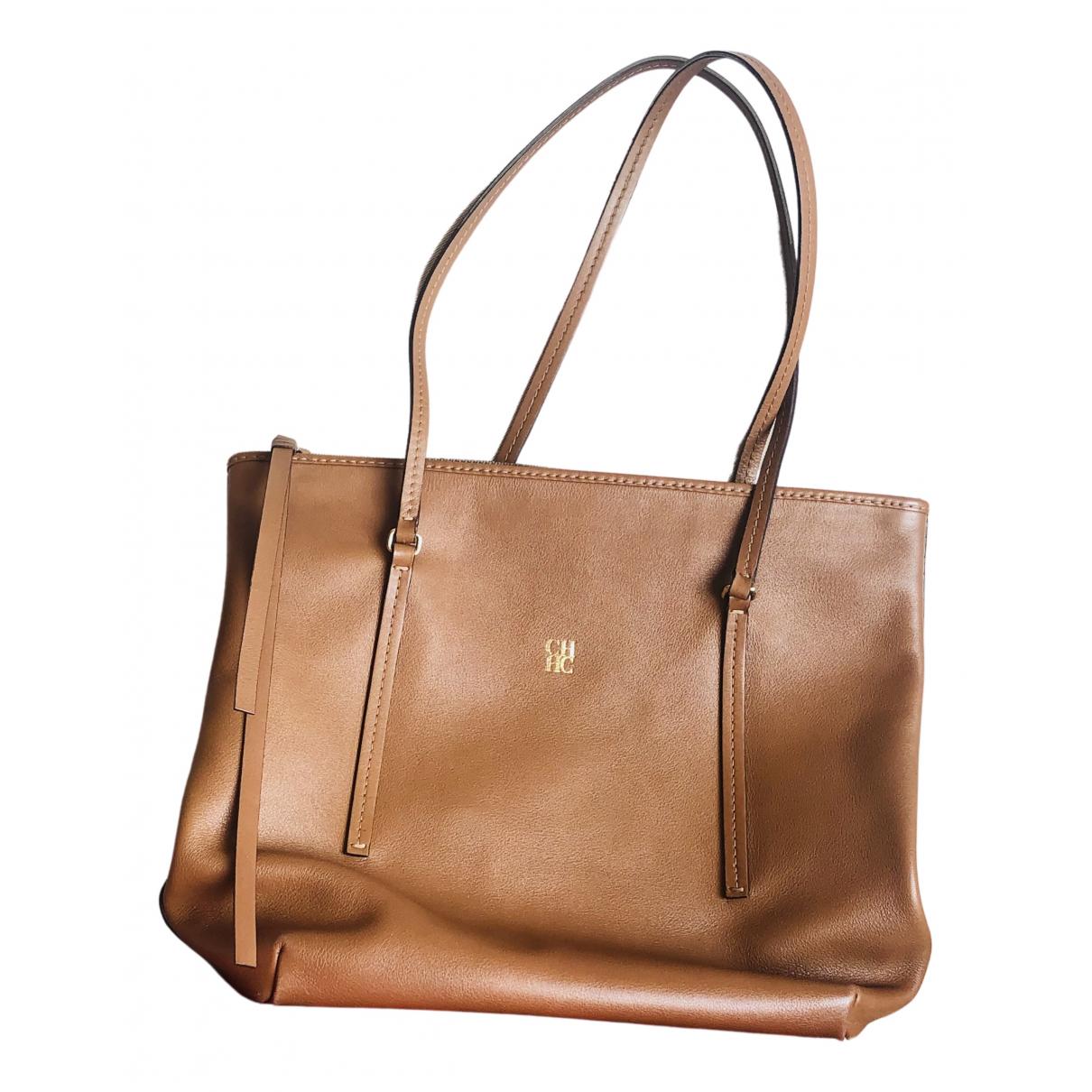 Carolina Herrera N Camel Leather handbag for Women N