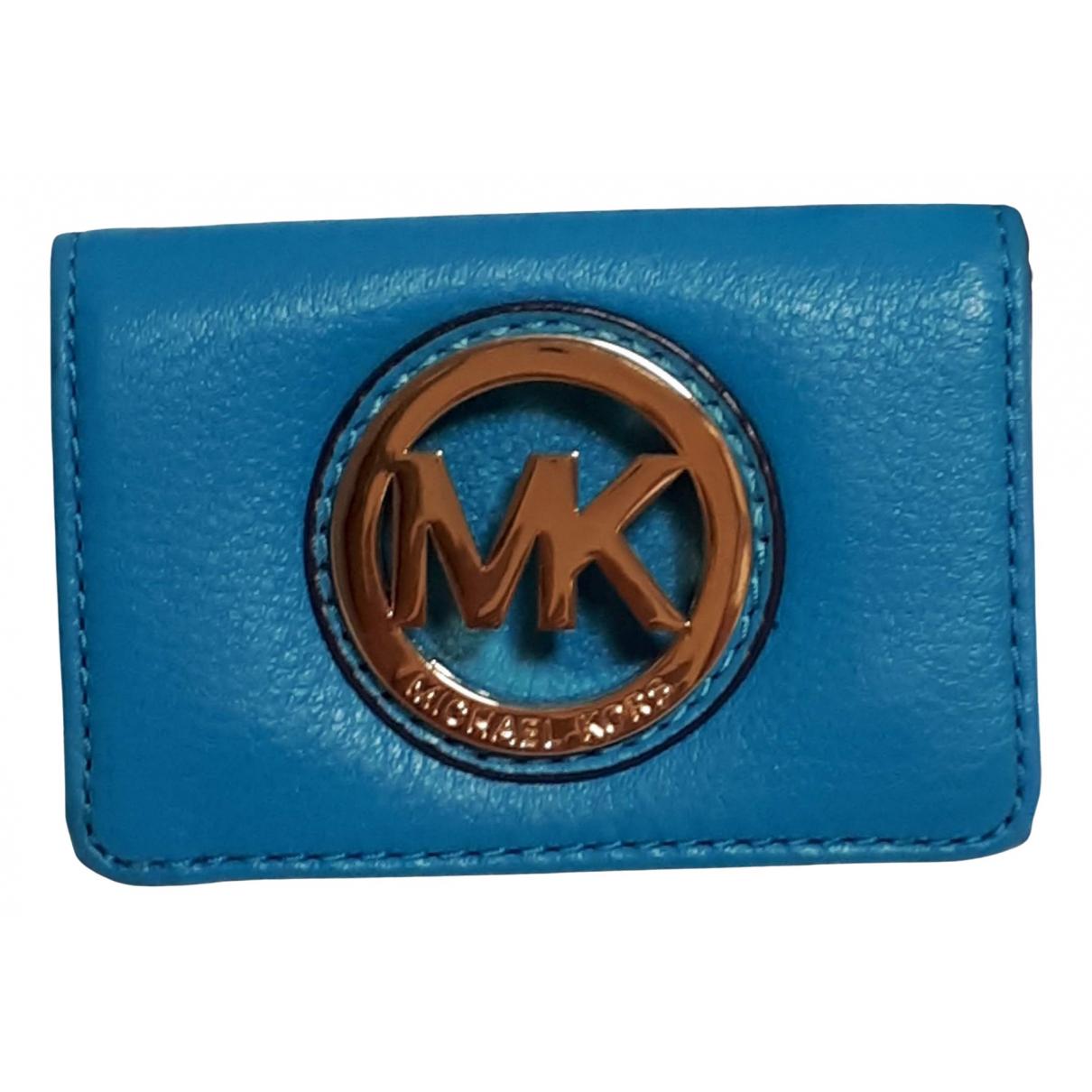Michael Kors - Petite maroquinerie   pour femme en cuir - bleu