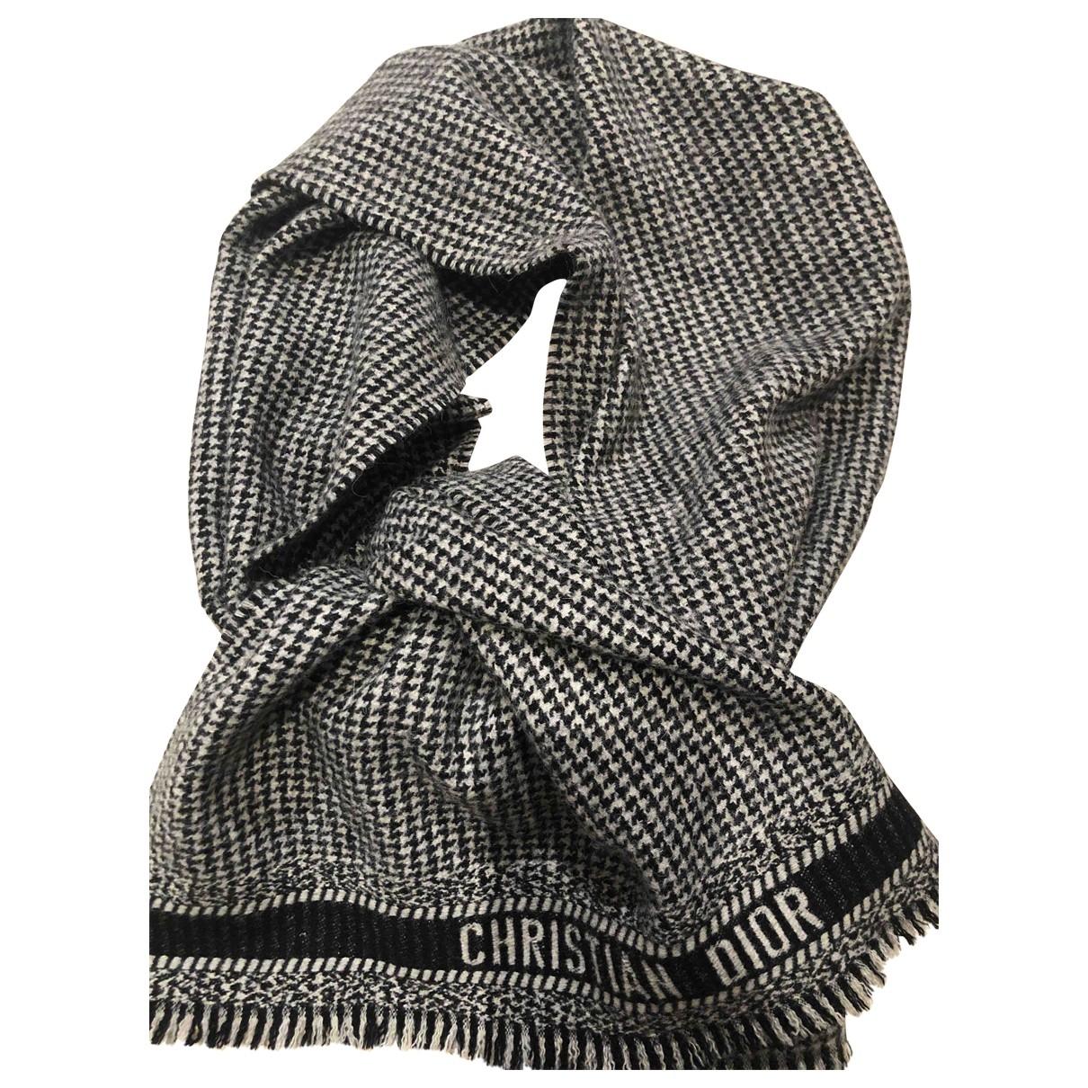 Dior \N Grey Wool scarf for Women \N