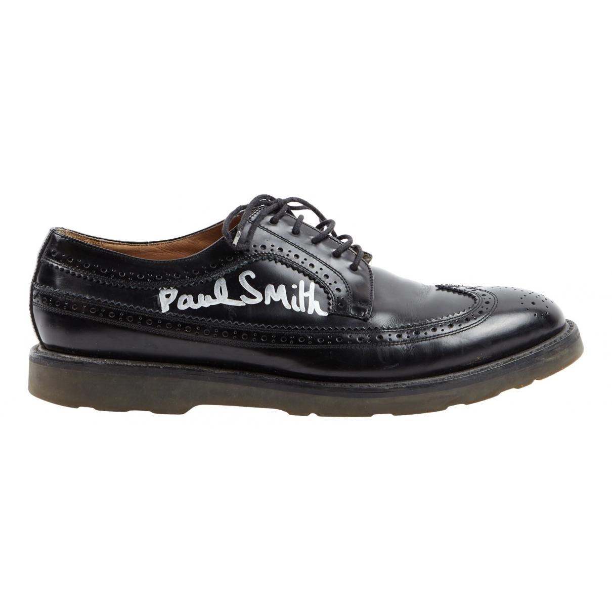 Paul Smith \N Schnuerschuhe in  Schwarz Leder
