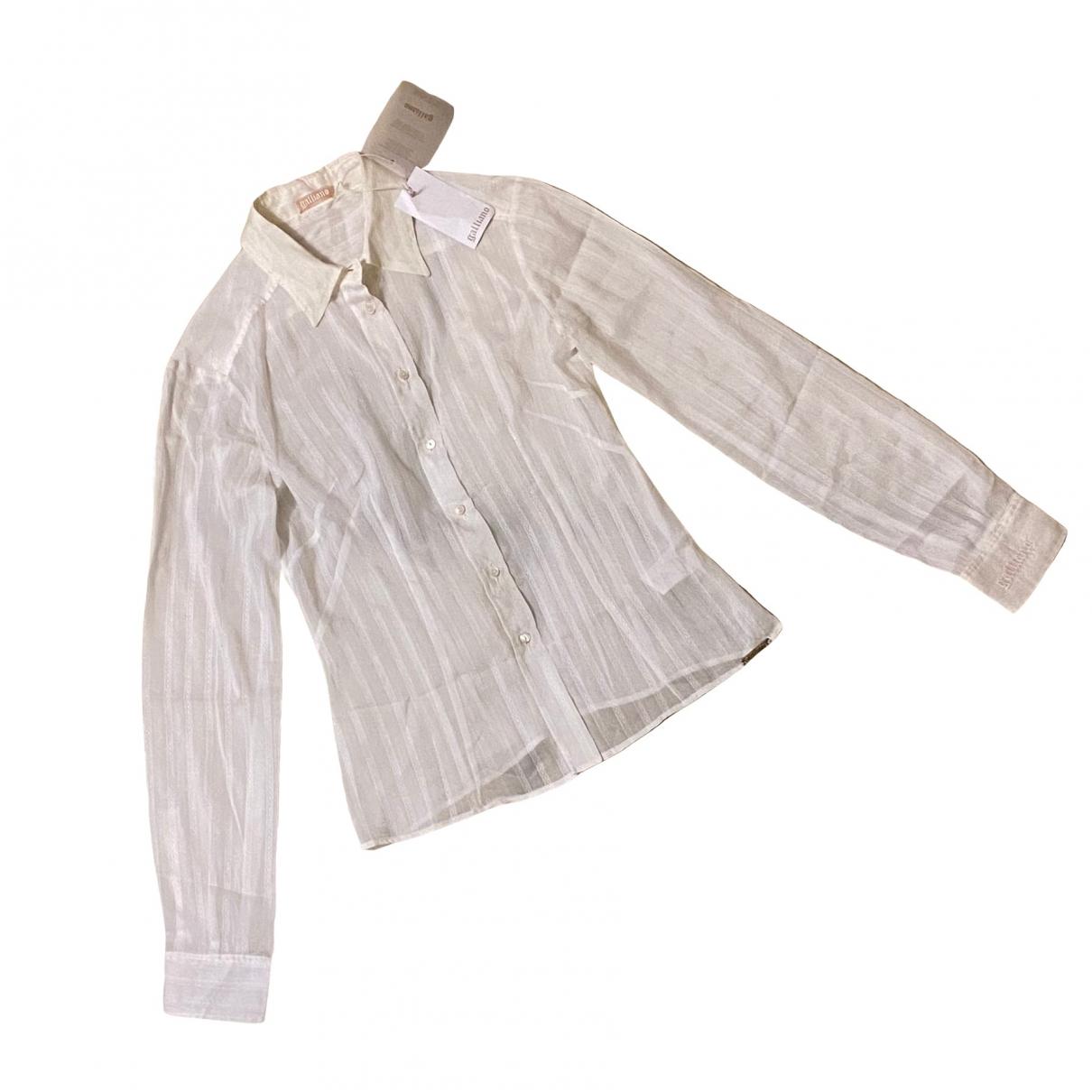 Galliano - Top   pour femme en soie - beige