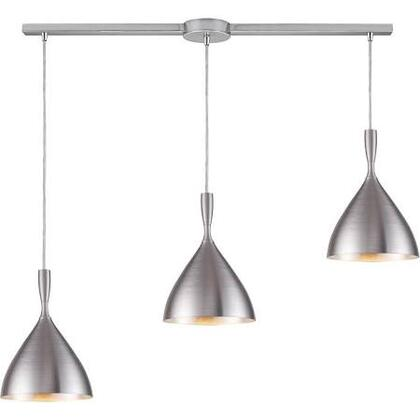 17042/3L-ALM Spun Aluminum 3-Light Pendant in
