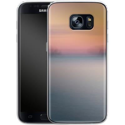Samsung Galaxy S7 Silikon Handyhuelle - Sea Sunset Abstract 2 von Joy StClaire