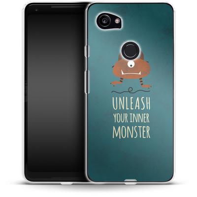 Google Pixel 2 XL Silikon Handyhuelle - Unleash Your Inner Monster von Statements
