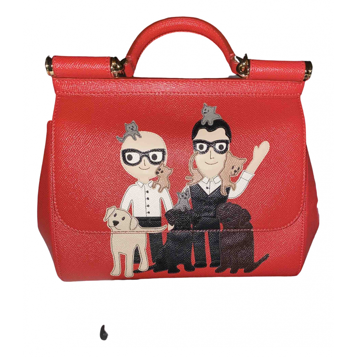 Dolce & Gabbana Sicily Red Leather handbag for Women \N