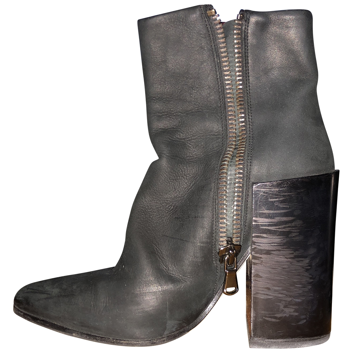 Acne Studios Pistol Black Leather Ankle boots for Women 37 EU
