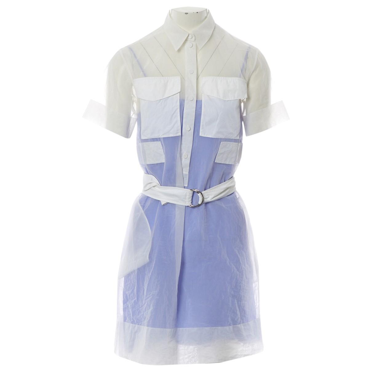 Celine \N Kleid in  Weiss Synthetik