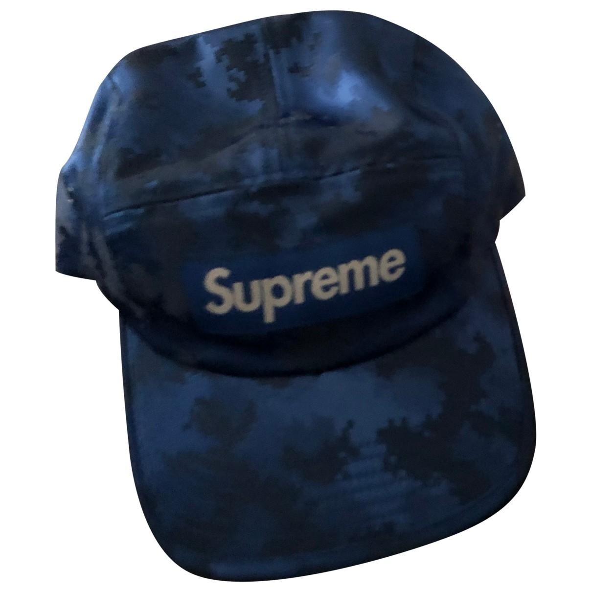 Supreme \N Hut, Muetzen in  Blau Polyester